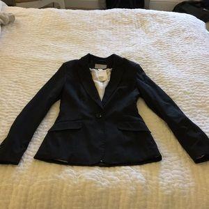 H&M Black Pinstriped Blazer.